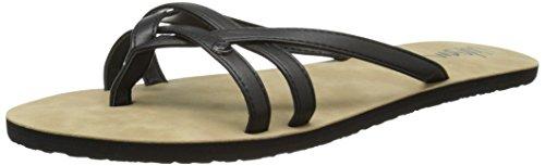 Volcom Women's Look Out Sandal Flip Flop, Black, 8 M US