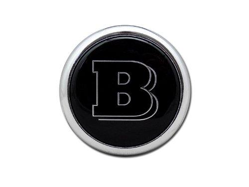 Universal Fit For Most Mercedes-Benz Models - 53MM Black B Logo Rear Trunk Emblem Badge (2006 Mercedes Benz E350 Emblem compare prices)