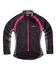 Polaris Mica Womens Cycling Jersey Black, Grey & Bright Rose UK 16