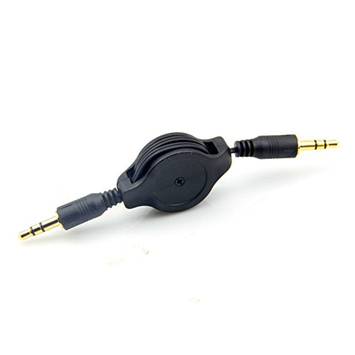 JINHEZO 3.5 mm Auxiliary Cable Cord for iPod/iPhone/Zune/Car Stereo/MP3 - Black (Radio Ipod Cord compare prices)