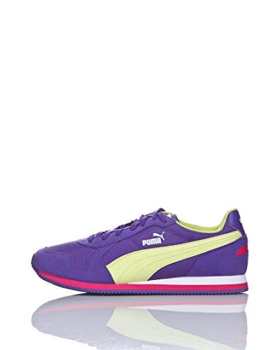 Puma Scarpa St Runner Jr [Prism Violet/Sunny Lime/Beetroot Purple]