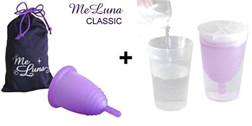 Meluna pack coupe menstruelle classic tige violette taille m st rilisateur menstrual cup en - Meluna coupe menstruelle ...