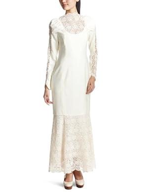 (イラン イラン)YLANG YLANG グレースフルレース ロングフィットドレス Y122514