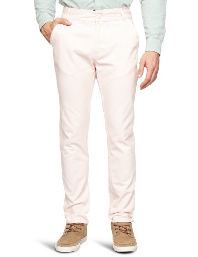Bellfield MTRS-11214SP Slim Men's Trousers Soft Pink W28 INxL32 IN
