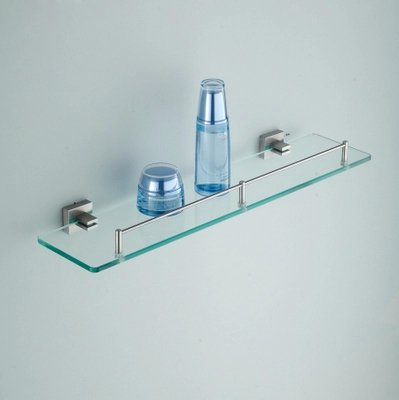 Prices Apl 8204 304 Stainless Steel Base Single Layer Glass Storage Shelf Bathroom Accessories