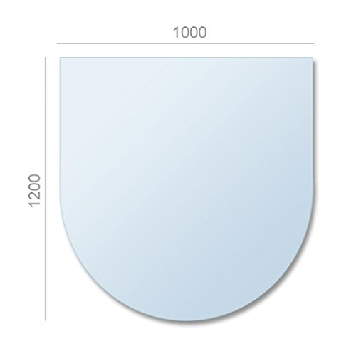 AA-Kaminwelt Kamin Ofen Bodenplatte Glas Zunge 8mm Glasplatte Glasbodenplatte