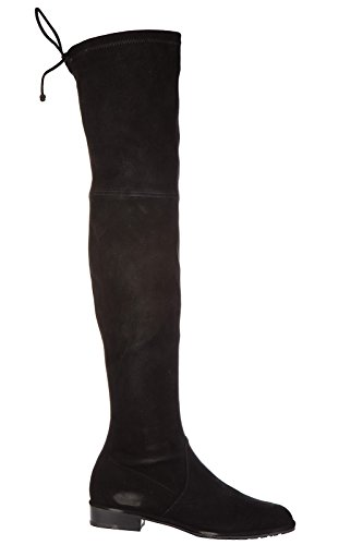 Stuart Weitzman stivali donna con tacco in camoscio lowland nero EU 38.5 LOWLAND715