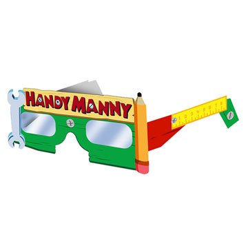 Handy Manny Paper Glasses 8ct