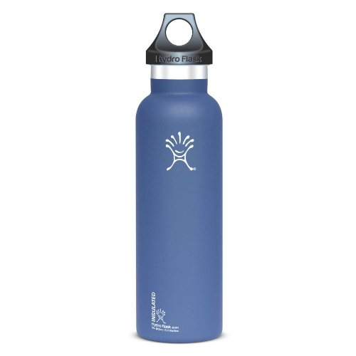 Hydro Flask Insulated Stainless Steel Water Bottle, Standard Mouth, 21-Ounce,Everst Blue front-433516