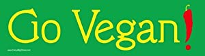 Go Vegan! Magnetic Bumper Sticker.