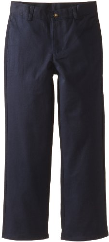 Dockers Big Boys' Uniform Double Knee Flat Front Pant Regular Fit, Navy, 20