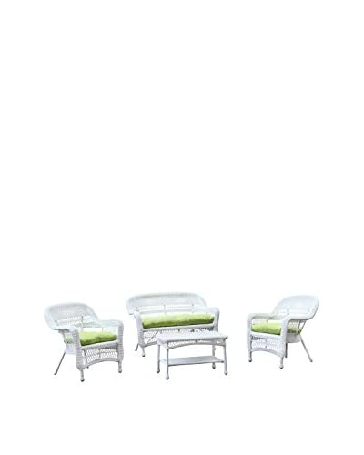 Manhattan Living Portside 4-Piece Outdoor Set, White/Green