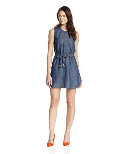 JB Julie Brown Women's Emory Sleeveless Shirtdress
