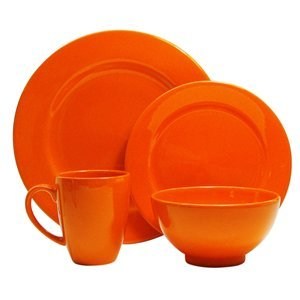 Waechtersbach Fun Factory II Orange 16-Piece Dinnerware Set, Service for 4