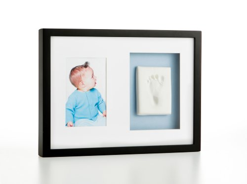 Pearhead Babyprints Keepsake Wall Frame, Black