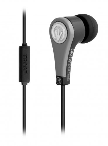Ifrogz If-Qua-Gry Quake Earbuds With Mic, Gray