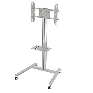stand181-g–TV Ständer 180cms mit Ablage höhenverstellbar mit Rollen. C/Grau