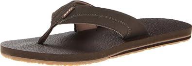 Reef Men's Cushion Sandal, Chocolate/Black, 8 M US