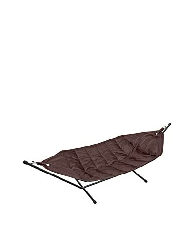 Famous Beanbag Maker Hammock With Stand, Black/Brown