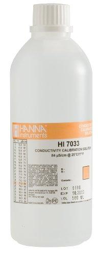 Hanna Instruments Hi7033L 84 Μs/Cm Conductivity Calibration Solution, 500Ml Bottle front-743646