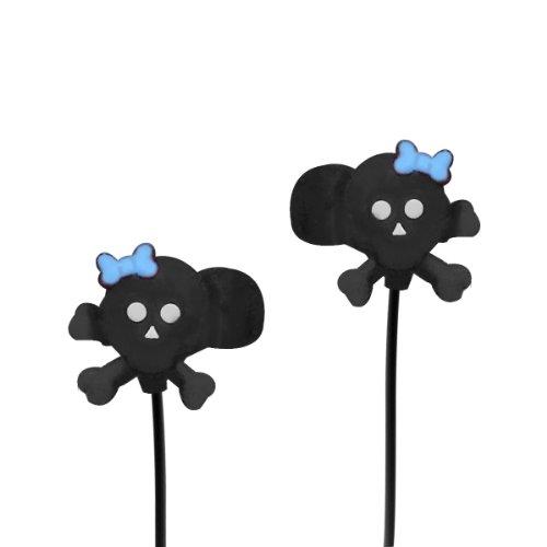 Vibe Sound Vs-802-Bsb Molded Skull Earbuds - Black
