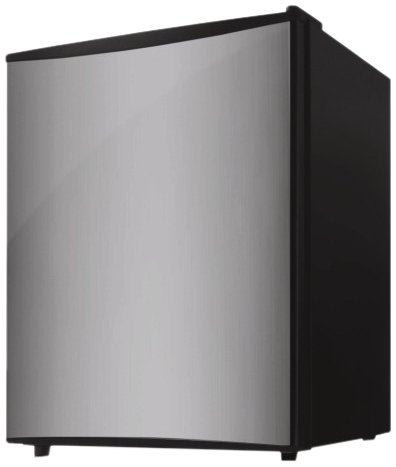 midea HS-87L Compact Single Reversible Door Refrigerator with Freezer, 2.4 Cubic Feet