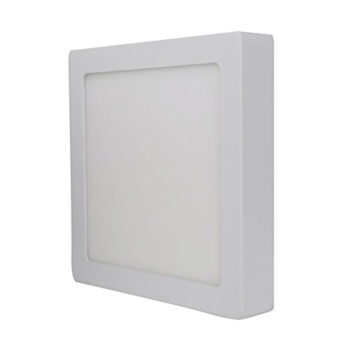 xtf2015 12W Square Led Surface Cool White 6000-6500k Super Bright LED Panel Light Ceiling Downlight Lamp Kit with LED Driver AC 110-240V (Led Light Panel Ceiling compare prices)
