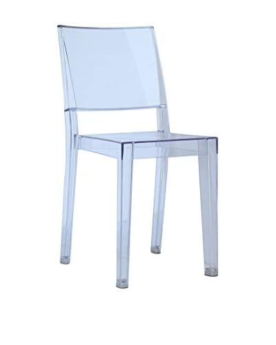 Manhattan Living Square Side Chair, Clear