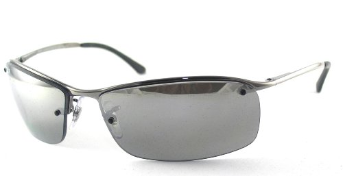 RAY BAN 3183 004/82 GUNMETAL GRAY MIRROR POLARIZED SUNGLASSES