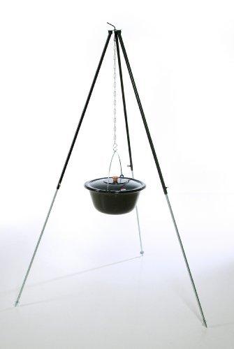 acerto ungarischer Gulaschkessel 6-30 Liter doppelt emailliert mit Deckel – Kesselgulasch Gulaschtopf Glühweintopf Suppentopf (22 Liter + Dreibein 180 cm) günstig