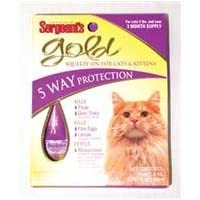 GOLD SQUEEZE-ON FOR CATS - SIZE: OVER 5#/3PACK