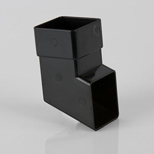 Brett Martin Squarestyle Downpipe 112,5° BR516B per scarpe, colore: nero