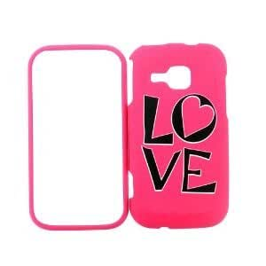 Samsung Galaxy Induldge R910 R915 Pink LOVE - Snap On Cover, Hard Plastic Case, Face cover, Protector - Retail Packaged