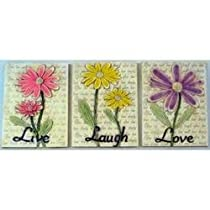 Live Love Laugh Floral Wall Hangings - 571649