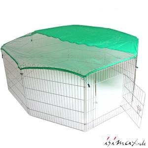 Trixie 6243 Outdoor Pen with Netting 8 Panels 80 × 75 cm