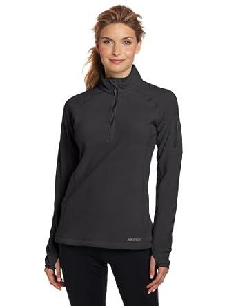 Marmot Women's Flashpoint 1/2 Zip Shirt土拨鼠轻薄抓绒 黑 $57.38