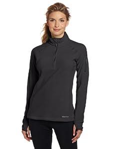 Marmot Women's Flashpoint 1/2 Zip Shirt, Black, Small