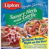 Lipton Soup & Dip Mix Savory Herb With Garlic 2.4OZ (Pack of 12)