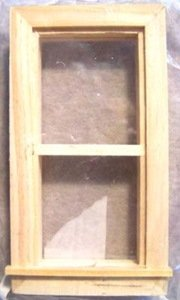 Doll House 2 Pane Wooden Frame Window by DuraCraft