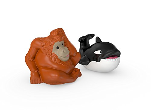 Fisher-Price Little People Orca Whale and Orangutan - 1