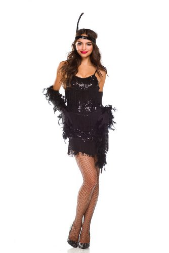 Amour- Sexy Old Fashioned Roaring 20s Honey Flapper Girl Costume Halloween