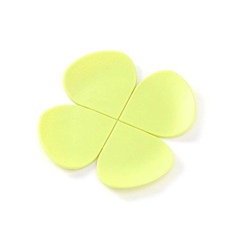 YOKIRIN Untersetzer aus Filz für Tisch und Bar als Glasuntersetzer / Getränkeuntersetzer für Glas und Gläser-Gelb(Durchmesser:11cm)