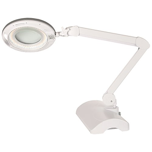 Brightech lightview pro 2 in 1 dimmable led magnifier for Led magnifying floor lamp white