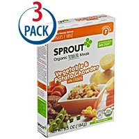 Sprout Organic Baby Food Toddler Meal Vegetable and Potato Chowder with Chicken -- 6.5 oz Each / Pack of 3