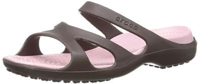 Crocs Meleen, Damen Durchgängies Plateau Ballerinas, Braun (Espresso/Petal Pink 28M), 34/35 EU