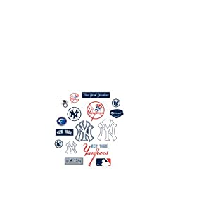 MLB New York Yankees Team Logo Assortment Fathead Jr. Wall Decal by Fathead