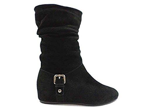 STUART WEITZMAN WH289 stivali donna 36,5 EU camoscio nero