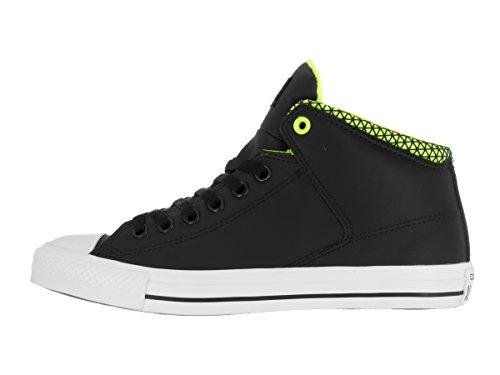 Converse Unisex Chuck Taylor All Star High Street Hi Black/White/Volt Casual Shoe 10 Men US / 12 Women US