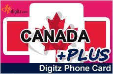 Canada prepaid phone card - Digitz PLUS!