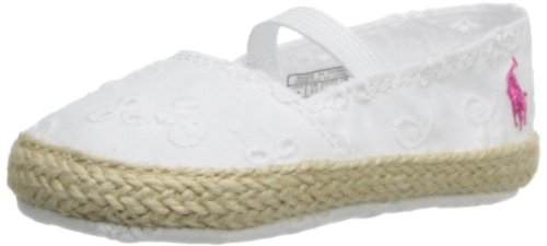 Infant Girl's Ralph Lauren Layette Slip-On White Eylet 1 M